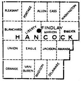 Map of Hancock County Townships