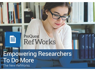 Organize your research with RefWorks