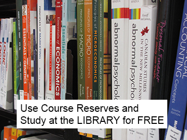 Course reserves at Jerome Library