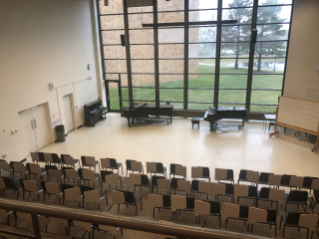 Choral groups have dedicated rehearsal hall