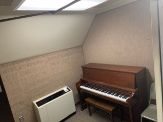 Practice rooms are available for music students