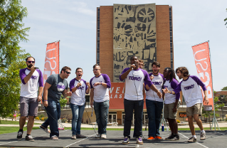 Bowling Green State University's male a cappella group Ten40 performs at Opening Weekend 2015.