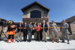 The Bowling Green State University aviation program and Bowling Green Flight Center officially opened the new 16,800 square-foot facility on April 17, 2015. University President Mary Ellen Mazey and Mark Smith, CEO of North Star Aviation, the parent company of Bowling Green Flight Center, led local officials in the ribbon cutting.