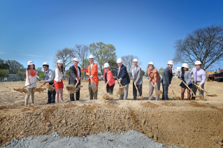 Spirits were high May 7 as the BGSU community gathered to break ground for the new Greek houses.
