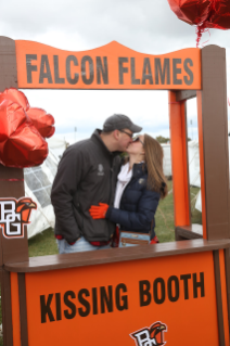 Falcon Flames stay warm at Homecoming 2015.