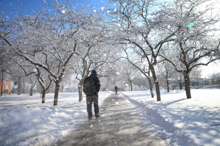 Winter 2015 made BGSU a winter wonderland.