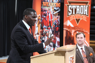 BGSU Athletics has named Michael Huger as the 17th head coach in men's basketball history.