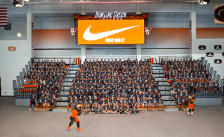 With all of the Falcon student-athletes in attendance  BG Director of Athletics Chris Kingston announced that the Falcons had come to an agreement with Nike to be its apparel and jersey sponsor.
