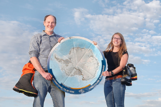 Dr. Kurt Panter, geology, and Jenna Reindel will visit a place that few people will ever see in their lifetime. The senior from Maumee, who is majoring in geology, and Dr. Panter are part of a National Science Foundation-funded research trip going to Antarctica to study two remote volcanoes.