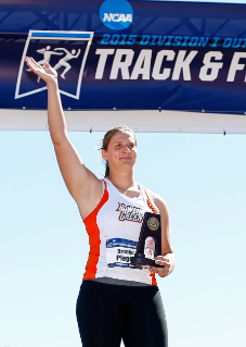 Brooke Pleger '15 won her third consecutive Mid-American Conference Championship in the hammer throw in the spring, breaking MAC Championship and overall MAC records in the process.