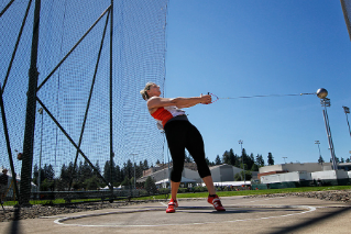 Brooke Pleger '15 is a three-time All-American who finished third at the NCAA Division I Outdoor Track & Field National Championships in the hammer throw.