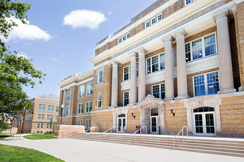 Front view of University Hall
