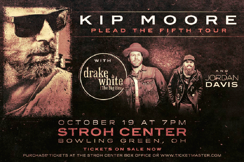 Kip Moore to perform Oct. 19 at the Stroh Center