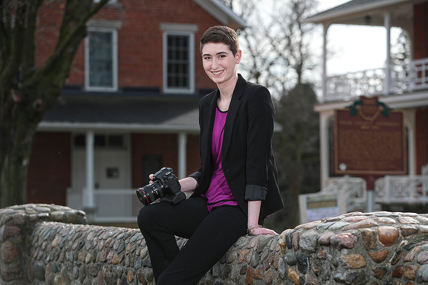 VCT student photographing Wood County for 200th anniversary