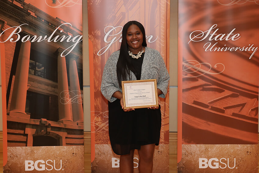 BGSU senior Angel Alls-Hall wins state recognition