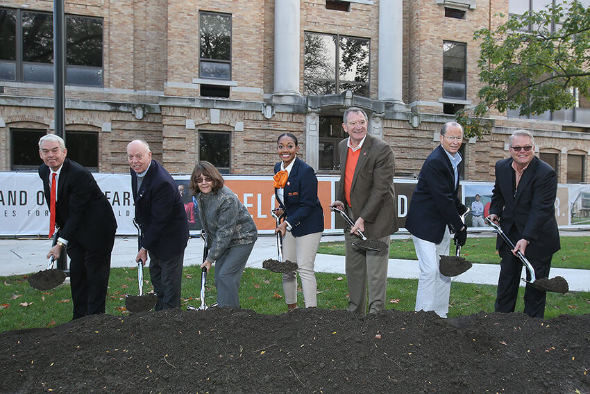 BGSU breaks ground for the Robert W. and Patricia A. Maurer Center