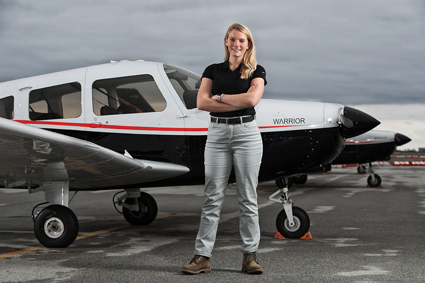Sky is the limit for BGSU aviation major Jessica Schieberl