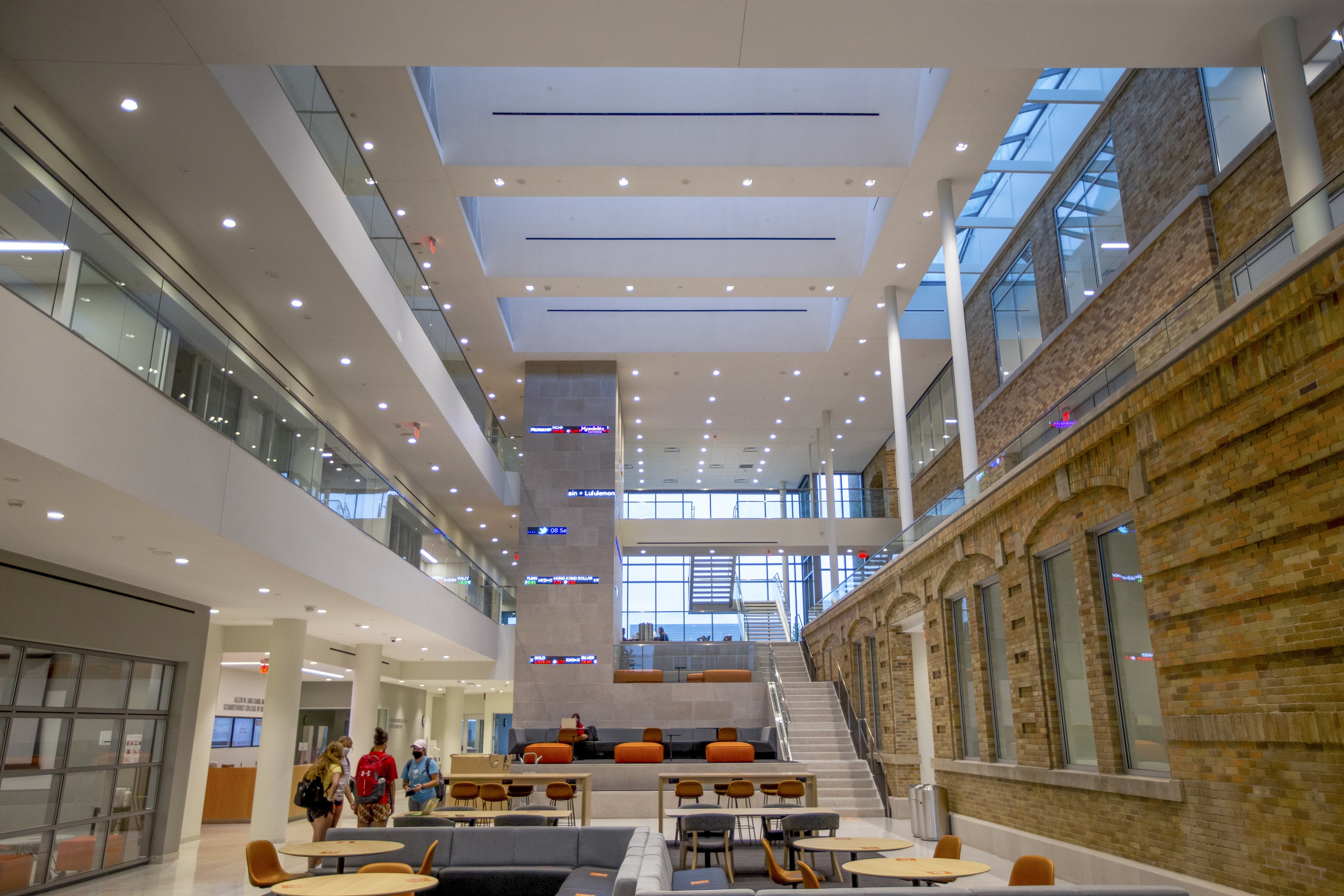 Renovations in 2020 successfully combine the historic feel of Hanna Hall and a modern-day environment for the home of the Schmidthorst College of Business as seen in the William F. and Peggy L. Schmeltz Atrium.