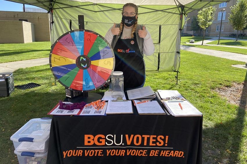 BGSU Votes booth