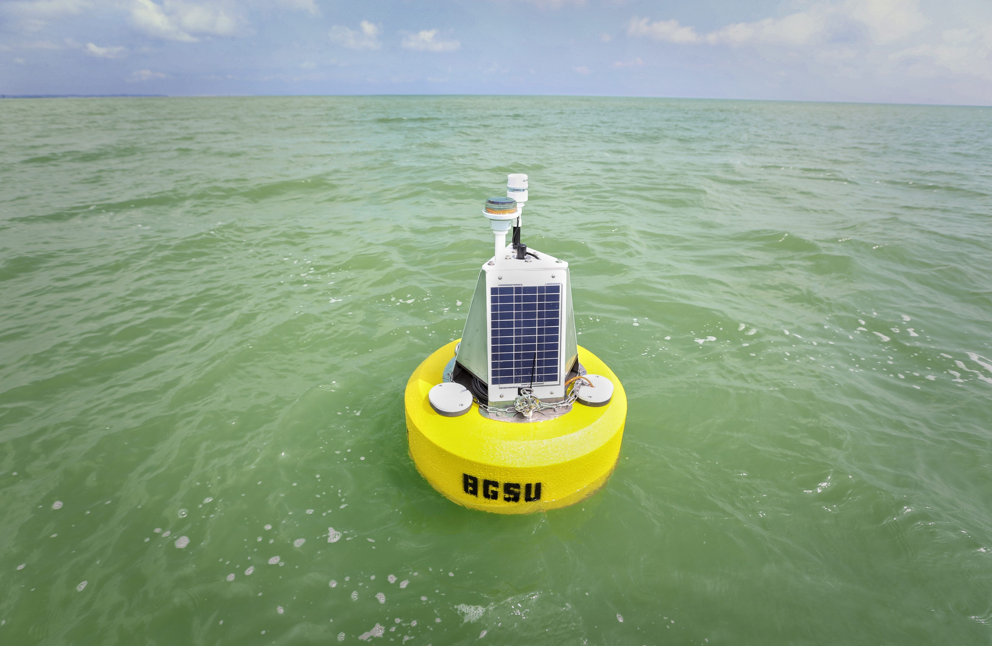 BGSU Scientific equipment in Lake Erie for research