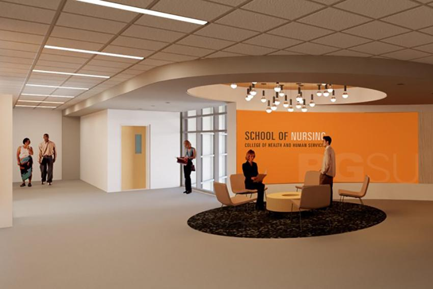 Rendering of new nursing lobby