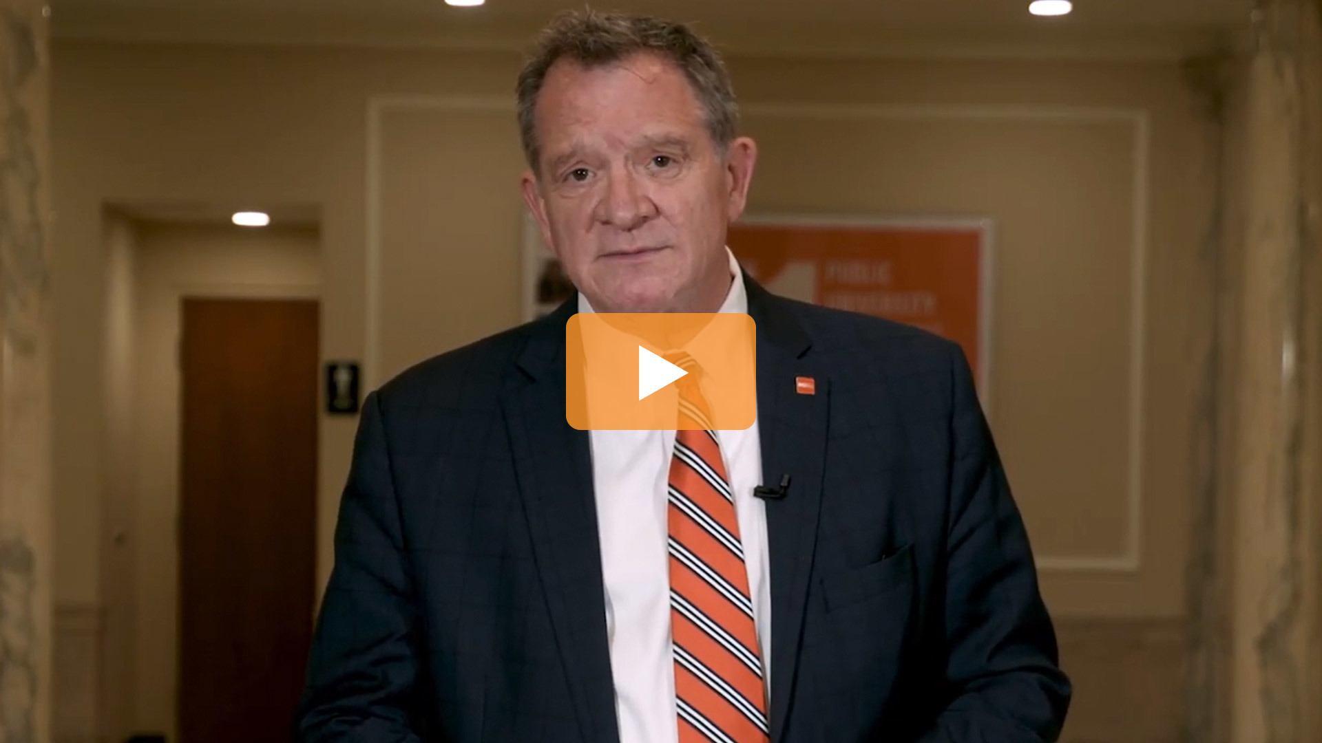 BGSU President Rogers video update