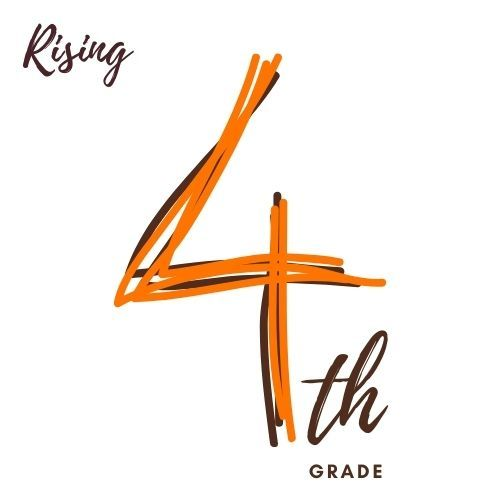 Image is of the number four and text th grade as in Fourth Grade