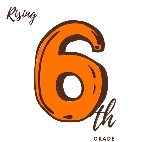 Image is of the number six and text th grade as in sixth Grade
