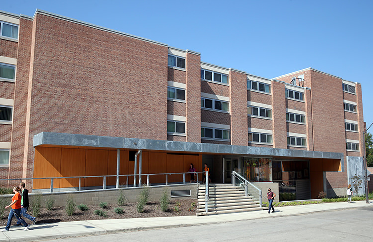 Exterior Image of McDonald Hall on a sunny day.