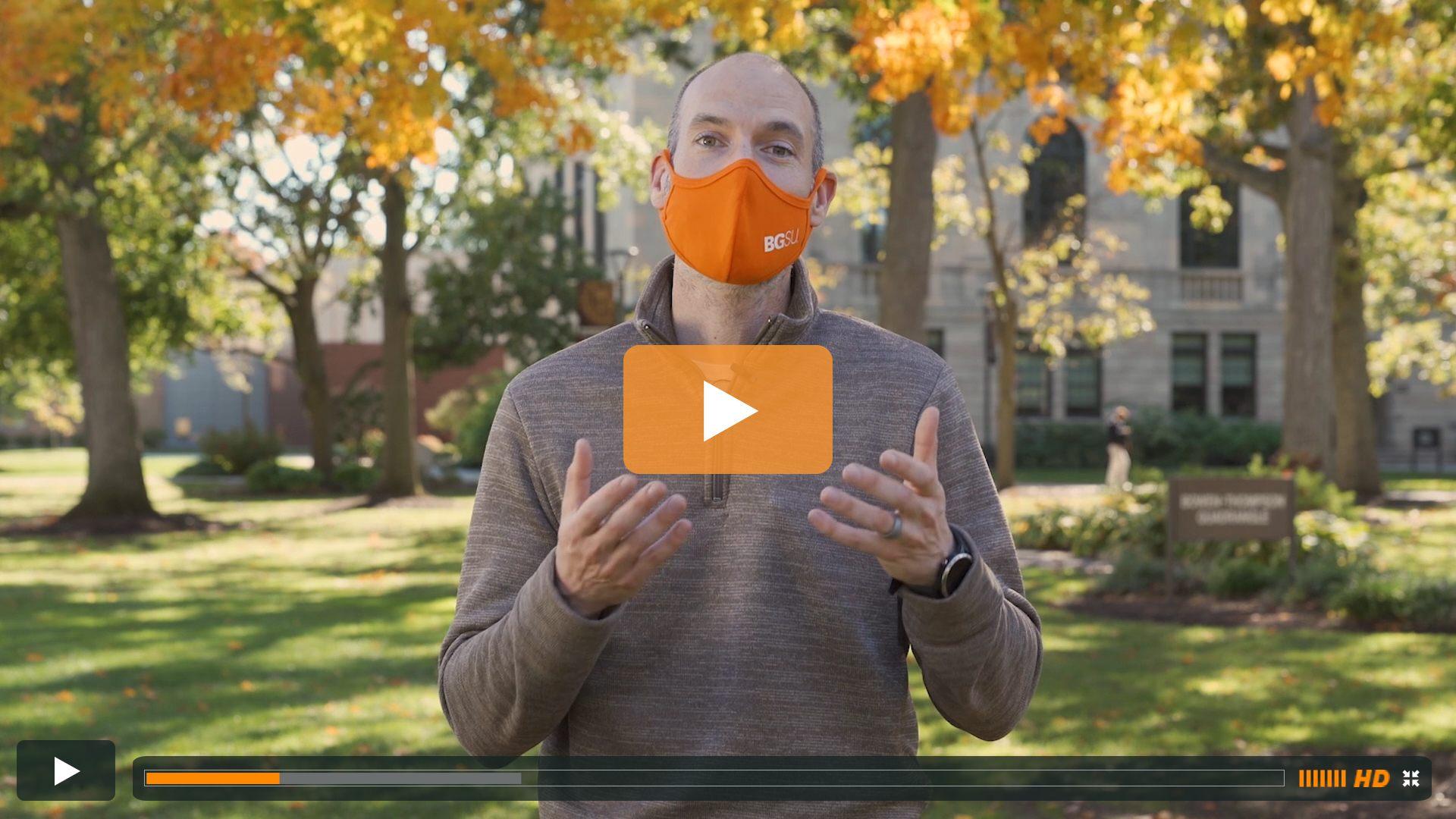 Watch BGSU Chief Health Officer Ben Batey's October 14 Video Update