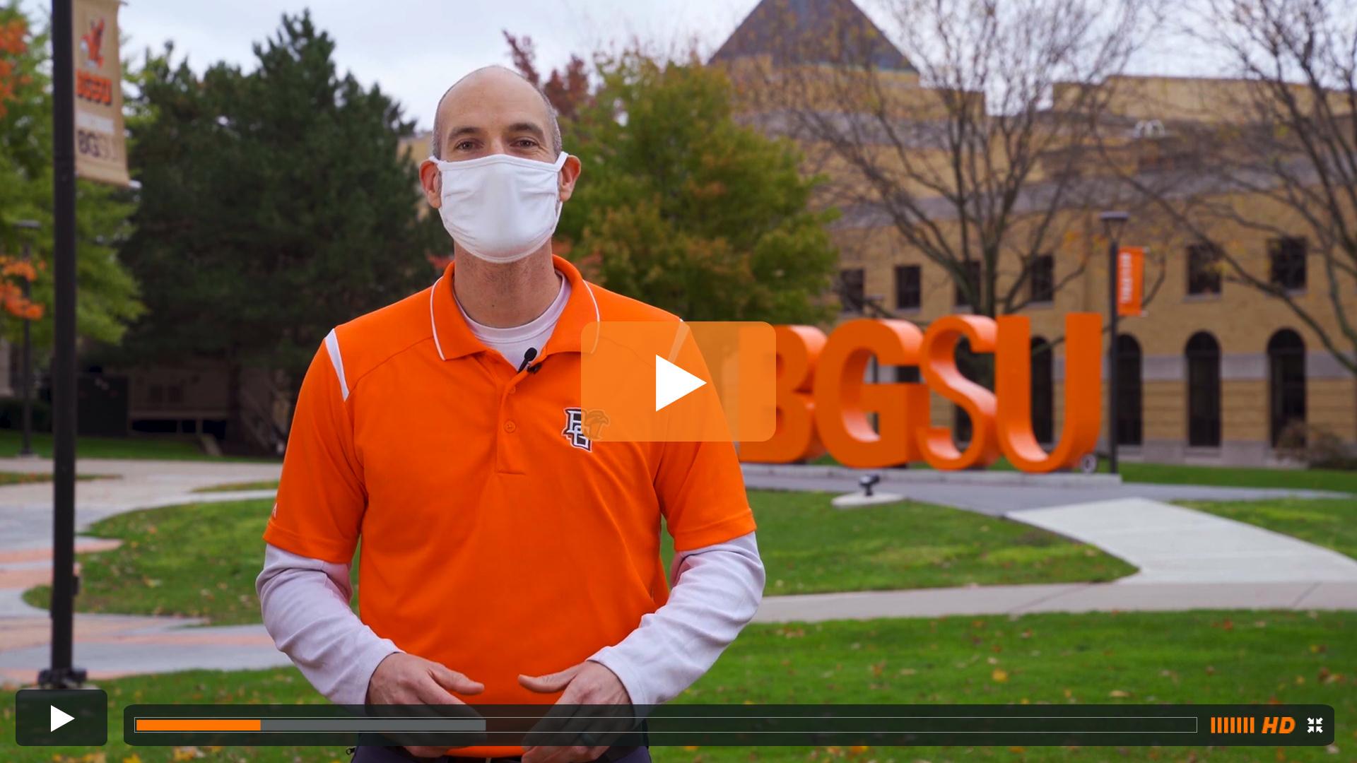 Watch BGSU Chief Health Officer Ben Batey's October 21 Video Update
