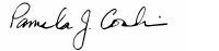 Pamela J. Conlin signature