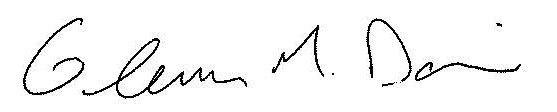 Glenn Davis Signature
