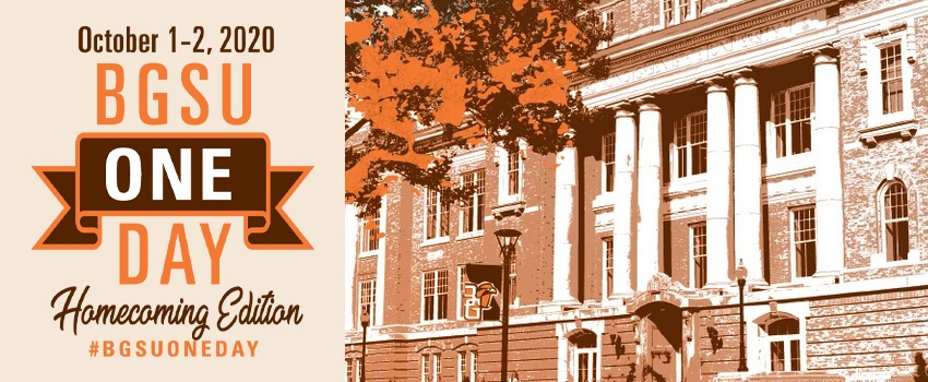 bgsu one day homecoming edition october 1-2, 2020
